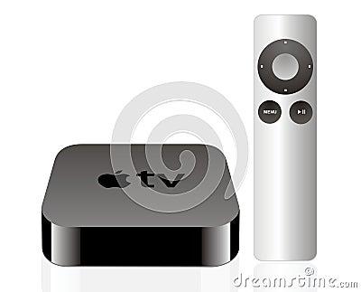 Apple Fernsehen Redaktionelles Bild