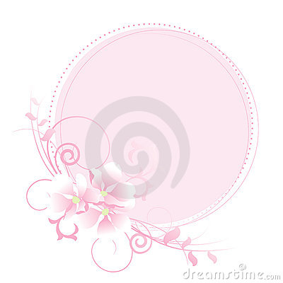 Apple flowers pastel frame.
