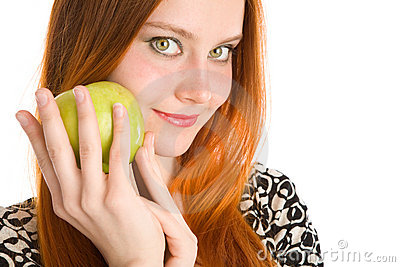 Apple and girl