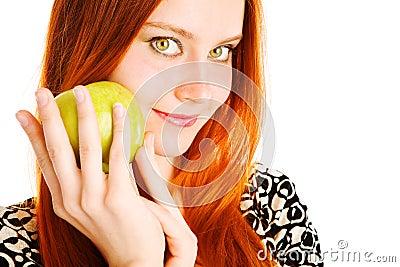 Apple and girl