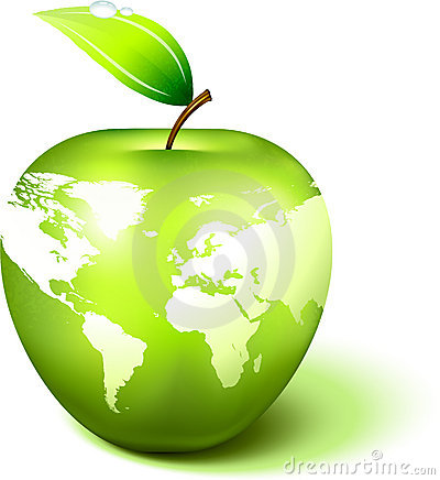 Free Apple Globe With World Map Royalty Free Stock Photos - 12278438