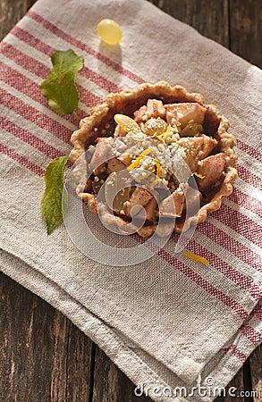Apple and grape tart
