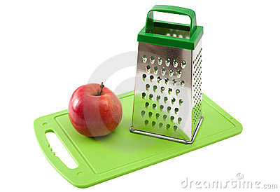 Apple and grater