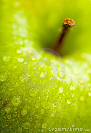 Apple in green