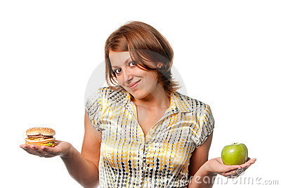 Apple or hamburger