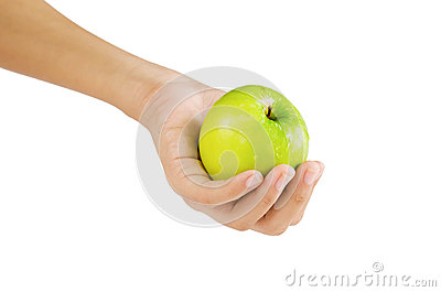 Apple on hand