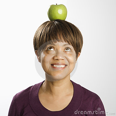 Apple on head.