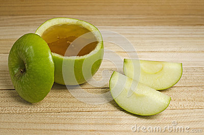 Apple in honey for Rosh Hashanah