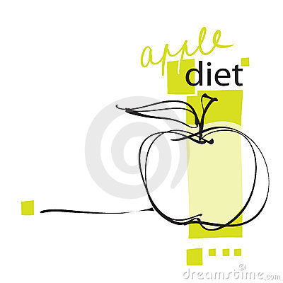Apple icon, layout (on diet concept)