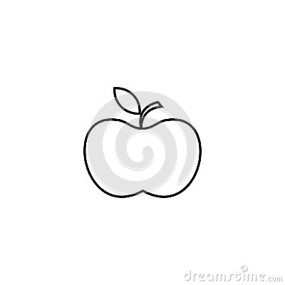 Free Apple Icon. Line Icon For Infographic, Website Or App. Outline Symbol To Design A Website And Mobile Applications. Simple Dental I Royalty Free Stock Photo - 99439595