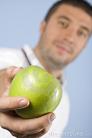 Free Apple In Man Hand Stock Photography - 11073452