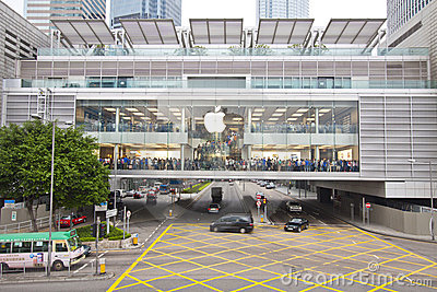 Apple Inc. opened shop in Hong Kong Editorial Photo