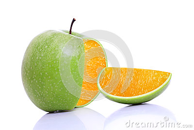 Apple with inside orange