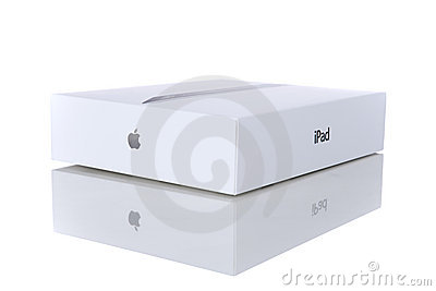 Apple iPad 2 with Smart Cover and original box Editorial Stock Photo