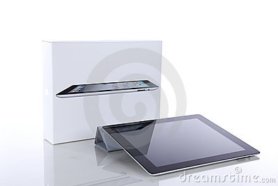 Apple iPad 2 with Smart Cover and original box Editorial Stock Image