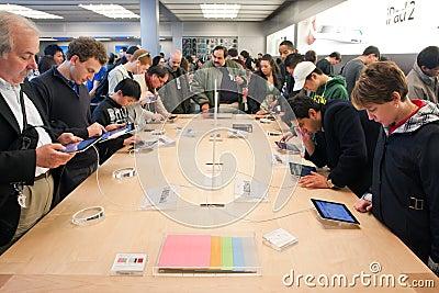 Apple ipad 2 testing Editorial Photography