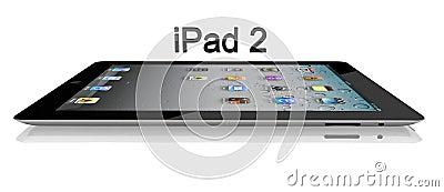Apple iPad 2 Wi-Fi 64Gb + 3G Side View Editorial Photo