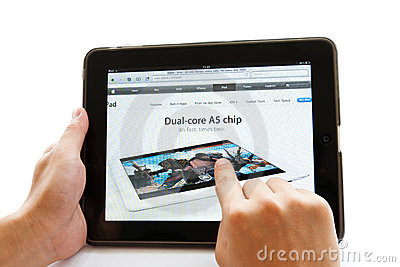 Apple ipad Editorial Image