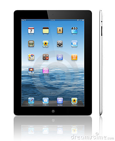 Apple iPad 3 black Editorial Stock Photo