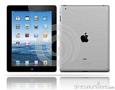 Apple iPad 3 black Editorial Stock Image