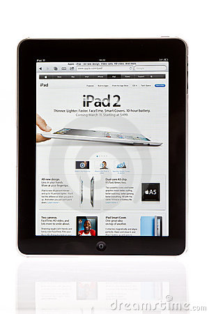 Apple ipad tablet PC Editorial Stock Photo
