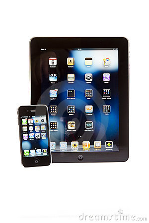 Apple ipad tablet PC with iPhone Editorial Stock Image