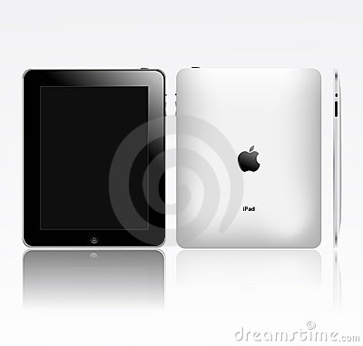 Apple ipad touch tablet pc(eps pending) Editorial Stock Image