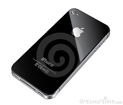 Apple iphone 4S back Editorial Stock Image