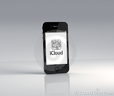 Apple iPhone 4S with iCloud App Editorial Image