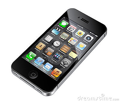 Apple iphone 4S illustration Editorial Stock Photo