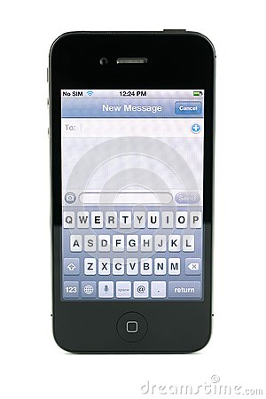 Apple iPhone 4s text message Editorial Photo
