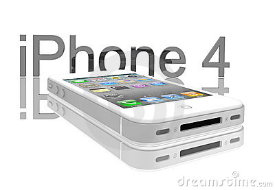 Apple iPhone 4s white Editorial Photography