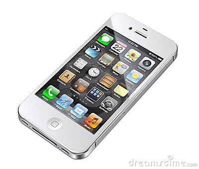 Apple iphone 4S white Editorial Stock Image
