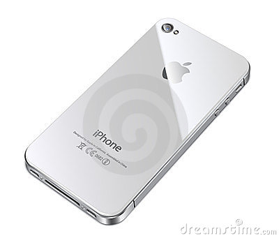 Apple iphone 4S white back Editorial Image