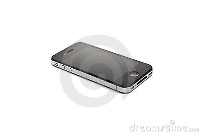 Apple Iphone 4S on white background Editorial Stock Photo