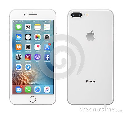 Free Apple IPhone 8 Plus Silver Royalty Free Stock Photo - 110384885