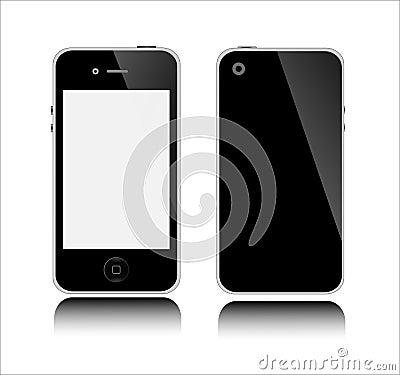 APPLE IPHONE BLACK Editorial Photo