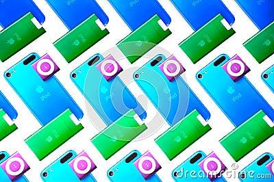 Apple ipod nana, ipod touch and shuffle Editorial Image
