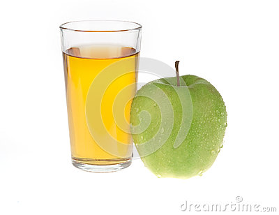 Apple juice isolated on white