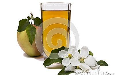 Apple juice still life