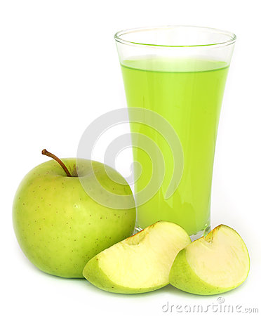 Free Apple Juice With Green Fruits Stock Photos - 55852263
