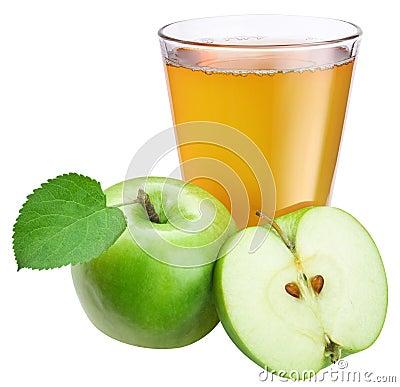 Free Apple Juice With Ripe Apple Stock Photos - 26510233