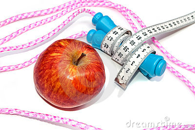 Apple and jump rope