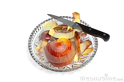 Apple and a knife