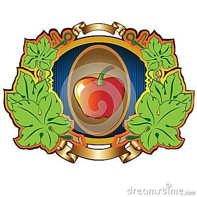 Apple label background