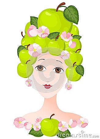 Apple lady
