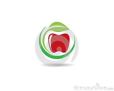 Apple logo template Vector Illustration