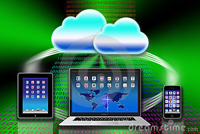 Apple Mac iCloud data apps Editorial Stock Image