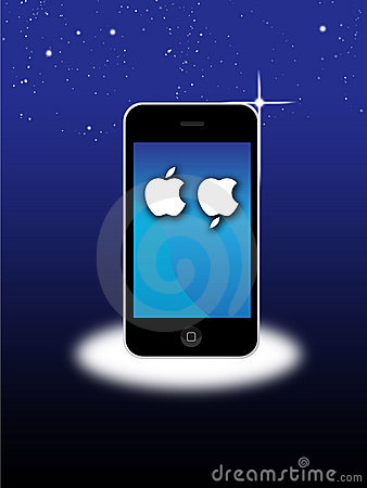 Apple Mac Iphone 4S mourns death of Steve Jobs Editorial Stock Photo