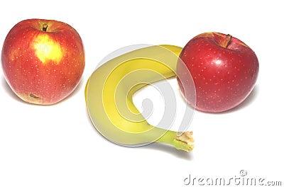 Apple macintosh and banana
